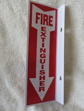 "(1-SIGN) 4"" X 12 RIGID PLASTIC 90* ANGLE ""FIRE EXTINGUISHER ARROW"" SIGN...NEW"