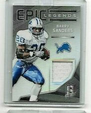 BARRY SANDERS 2015 PANINI SPECTRA EPIC LEGENDS GAME USED JERSEY#/99
