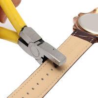 Universal-Gelb Hand LederArmbanduhr-Band-Gurt-Tool Locher Zangen Gift