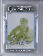 15-16 2015-16 THE CUP BRENDAN RANFORD AUTO TRILOGY PRINTING PLATE YELLOW 1/1
