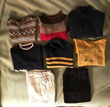 8 Piece Mixed Lot ~Boys Long-Sleeve Top /Sweaters/ Pants Size 4/5