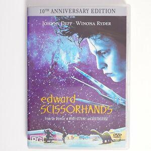 Edward Scissor Hands Movie DVD Region 4 AUS Free Postage - Thriller Johnny Depp