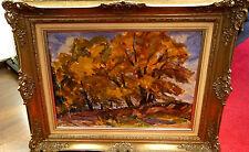 Ölbild,Landschaft mit Bäumen,Emil Thoma,20zigstes Jhdt.verg.Rahmen
