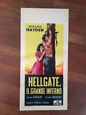 LOCANDINA,Hellgate - Il Grande Inferno,Sterlin Hayden Ward Bond sex  S/8