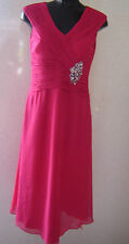 Berkertex Diamante Magenta Dress UK Size 10 Special Occasion Nes