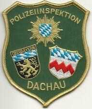 Polizei BAYERN * POLIZEIINSPEKTION  DACHAU * StoffAbzeichen Patch TOP Abzeichen
