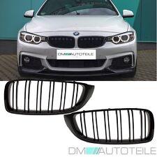 2x Kühlergrill Schwarz Glanz Doppelsteg passend für BMW 4er F32 F33 F36 auch M