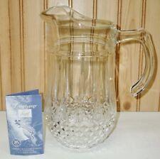 J.G.Durand Longchamp Cristal d'Arques Large Ice Water Broc Jug FINE 24% Crystal