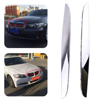 2 Front Hood Molding Painted Chrome Trim For BMW E90 E91 3-Series 325i 330i 328i