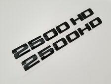 2pC BLACK 2500HD FIT GMC Door EMBLEM Chevrolet NAMEPLATE BADGE NAME DECAL 2500