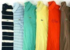 Mens LACOSTE Polo Shirts Mixed Random Lot of 6 Sizes 3/S 4/M 5/L 6/XL 7/XXL 8 9