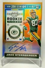 2019 Panini Contenders Optic Orange #173 Jace Sternberger RC AU 05/50 Packers