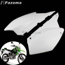 1 Pair Motocross White Rear Side Covers For Kawasaki KLX250 / D-Tracker X 08-19