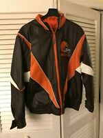 VINTAGE CLEVELAND BROWNS PROPLAYER NFL EXPERIENCE XXL LEATHER JACKET NEW MENS