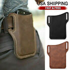 Cell Phone Waist Belt Holster Loop Holder Pack Bag PU Leather Pouch Case Cover