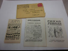 VINTAGE 1956 2 X K.O. HARRIS FUN WITH FEMALES MINI COMIC BOOKS / POST CARD LOT