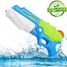 "13"" Kids Summer Water Guns Super Soaker, Blaster Squirt  Swimming Pool Toys BLUE"