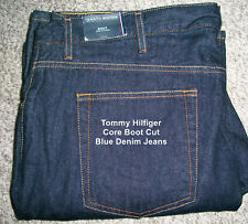 0122c8f8 TOMMY HILFIGER Boot Cut Semi Evasee Dark Blue Denim Jeans NWT 38x34 $60