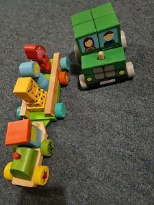 Jojo Maman Bebe Tractor Wooden And Wooden Train