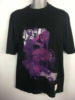 MENS ECKO UNLTD BLACK PURPLE CAR PRINT SHORT SLEEVE CREW NECK T-SHIRT TOP SMALL