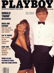 PLAYBOY March 1990 Donald Trump > COVER PRINT > 🐰 45th President 🗽