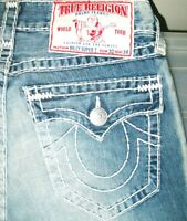 *HOT Men TRUE RELIGION @ BILLY SUPER T BOOTCUT Fading Jeans 30 x 34 (Fit 30x 33)