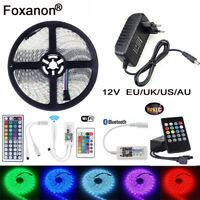 5M 5050 RGB LED Strip Lights waterproof Tape Wifi Music Controller IR 12V Power