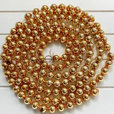Vintage Gold Mercury Glass Beads Christmas Tree Garland 66�