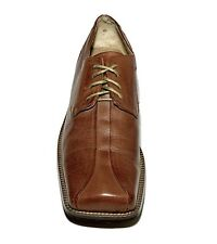 Zengara Leather Men's Dress Shoes Brown Lace Up. Size 11.