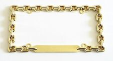 Gold Color Metal Chain License Plate Frame