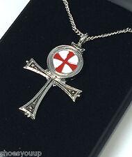 Masonic Knights Templar Ankh Pendant & Chain Jerusalem Talisman