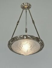 MAYNADIER & MULLER : FRENCH 1930 ART DECO CHANDELIER  lamp pendant degué era
