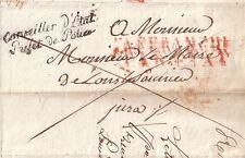 FRANCHISE - CONSEILLER D´ETAT PREFET DE POLICE - PARIS LE 26-12-1812 - SIGNATURE