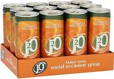 J2O Fruits Mélange Jus Verre-Orange et parfums, 12 x 250 ml Cans