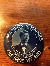 Antique Celluloid Advertising Pocket Mirror- M.Haines the Shoe Wizard Young
