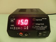 HW International - 5-15V DC, 0-15Amp Variable, 225W Switch-Mode Power Supply