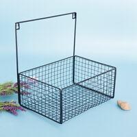 Iron Wire Storage Basket Sundries Wall Organizer Rack Kitchen Hanging Basket