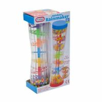 Baby Toddler Rainbow Rainmaker Sound Simulation Activity Play Toy Shaker Rattle