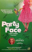 HAYLEY MILLS PARTY FACE CAST SIGNED POSTER AMANDA BEARSE PARENT TRAP POLLYANNA