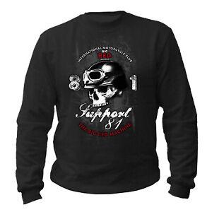 Sweatshirt Hells Angels Support 81 Red&White Big Red Machine MC 1% AC/AB S-XXXL