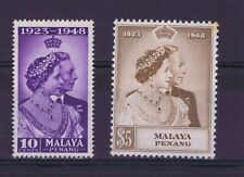 DD804 MALAYA PENANG 1948 Royal Silver Wedding SG 1/2  MNH