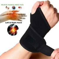 Adjustable Wrist Support Brace Hands Carpal Tunnel Thumb Arthritis Relieve Pain
