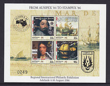 1986  AUSIPEX84 TO STAMPEX86 OV/PR M/S MUH AND VERY SCARCE NOW.