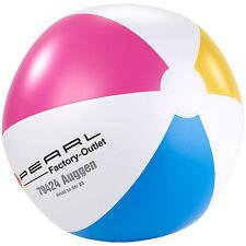 Strandball aufblasbar: Aufblasbarer Wasserball, mehrfarbig, Ø 33 cm