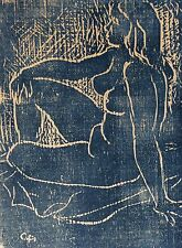 Carl ASHBY (1914-2004) Nu gravure sur Bois American abstract expressioniste 1-20