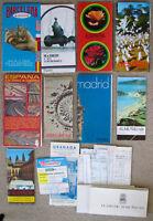 Vintage 1970s SPAIN TRAVEL BROCHURE COLLECTION Pamphlet Lot Map Hotel Souvenir