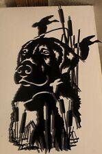 Hunting Dog with Hunter Metal Wall Art Home Decor Gift Idea