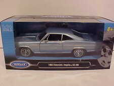 1965 Chevy Impala 396 SS Coupe Die-cast Car 1:24 by Welly 8 inch Lite Blue