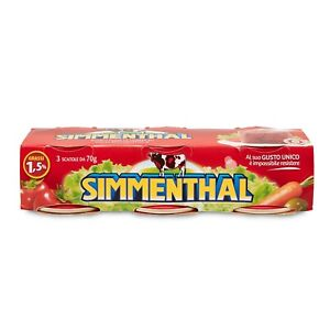 Simmenthal Jellied Cured Beef (3x70g) Lean Tinned Beef In Vegetable Gelatin
