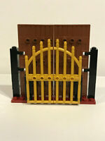 Lego Gates Pearl Gold Iron & Brown Stockade Doors With Supports